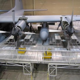 Maintenance Stands supplied to Alaska based Air National Guard to carry out base maintenan