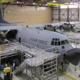 C130 full wraparound maintenance stand