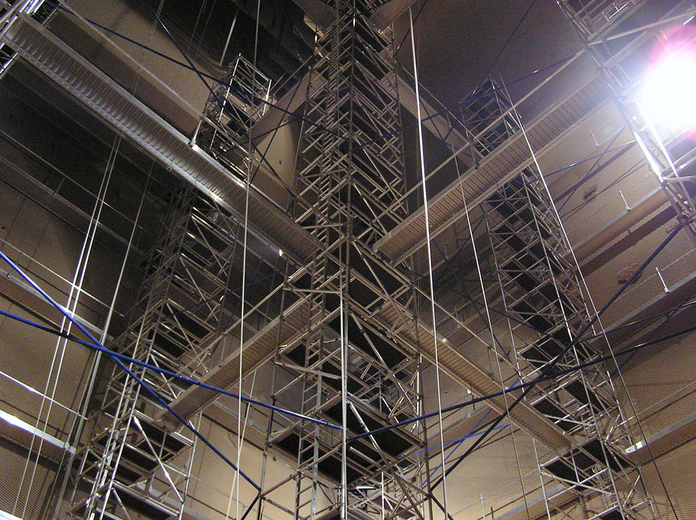 Boiler Access Scaffolding System - Instant Upright - Call 01 620 9300